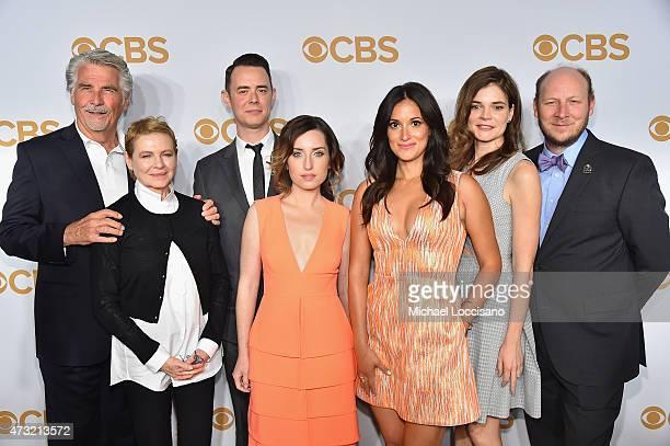 """The cast of """"Life in Pieces,"""" actors James Brolin, Dianne Wiest, Colin Hanks, Zoe Lister Jones, Angelique Cabral, Betsy Brandt, and Dan Bakkedahl..."""