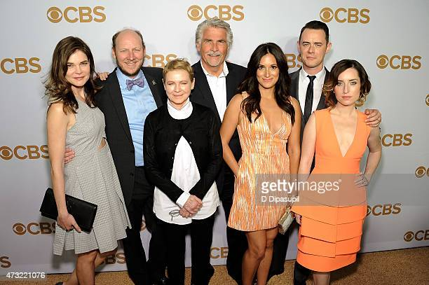 The cast of 'Life In Pieces' Betsy Brandt Dan Bakkedahl Dianne Wiest James Brolin Angelique Cabral Colin Hanks and Zoe Lister Jones attend the 2015...