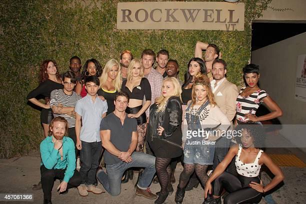 The cast of Los Feliz 90027 Back Row Alex Ellis Chauncey Jenkins Corbin Reid Bridgette B Sam Pancake Rumer Willis Blake Cooper Griffin Constantine...