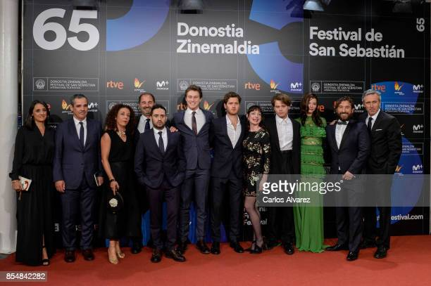 The cast of 'Marrowbone' attend the premiere during 65th San Sebastian Film Festival on September 27 2017 in San Sebastian Spain