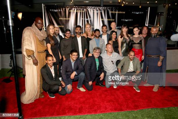 The cast of Medinah pose for a photo during the International SciFi Series 'Medinah' premiere and red carpet reception at ComicCon International 2017...