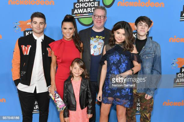 The cast of Meet The Thundermans attends Nickelodeon's 2018 Kids' Choice Awards at The Forum on March 24 2018 in Inglewood California