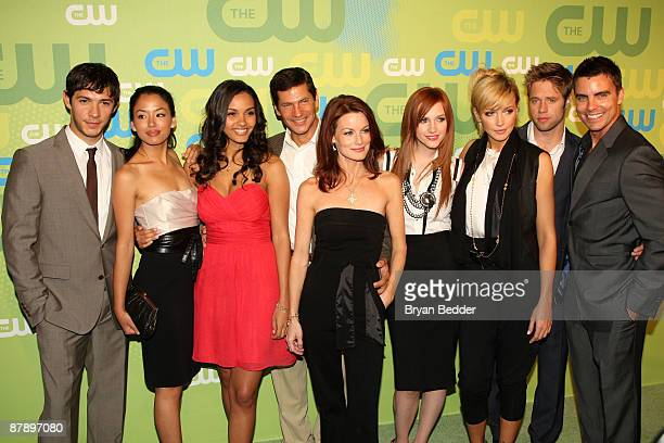 The cast of Melrose Place attend the 2009 The CW Network UpFront at Madison Square Garden on May 21 2009 in New York New York