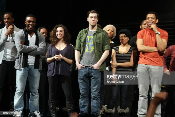 The cast of Memphis at a special performance of Memphis for Inspire Change presented by Audemars Piguet The Tony Awards Broadway Cares at Shubert...