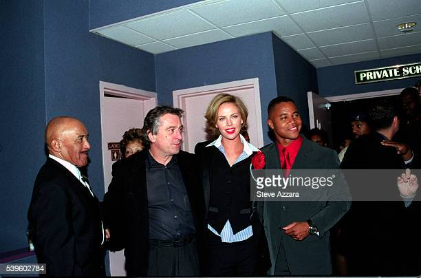 The cast of 'Men of Honor' Robert DeNiro Charlize Theron and Cuba Gooding Jr