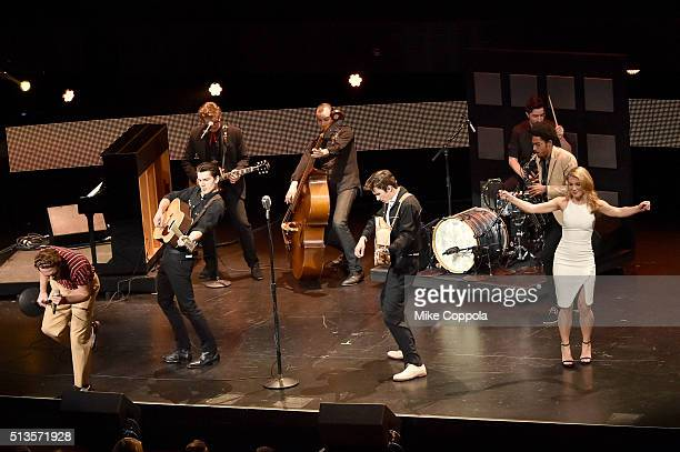 The cast of Million Dollar Quartet perform onstage at the 2016 Viacom Kids and Family Group Upfront on March 3 2016 in New York City