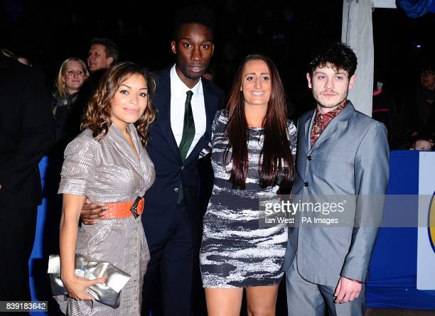 The cast of Misfits Antonia Thomas Nathan StewartJarrett Lauren Socha and Iwan Rheon arriving for the 2010 British Comedy Awards at Indigo2 at the O2...