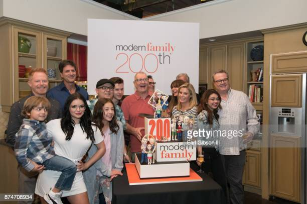 The Cast of Modern Family along with show runners attend ABC Celebrates The 200th Episode Of 'Modern Family' at Fox Studios on November 15 2017 in...