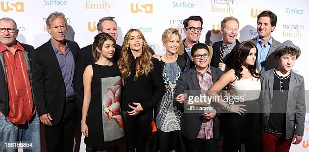 The cast of Modern Family attend the 'Modern Family' Fan Appreciation Day hosted by USA Network held at Westwood Village Theatre on October 28 2013...