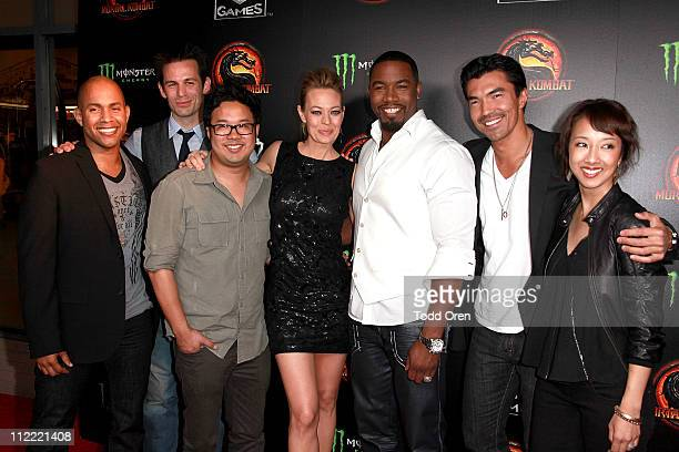 """The cast of Mortal Kombat Legacy attend the """"Mortal Kombat Legacy"""" digital series premiere celebration at Saint Felix II on April 14, 2011 in..."""
