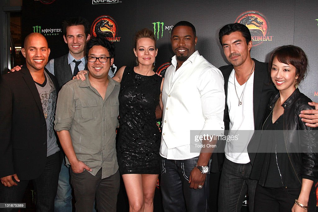 The cast of Mortal Kombat Legacy attend the