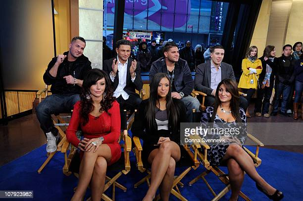 """The cast of MTV's """"Jersey Shore,"""" talks about the new season of their hit show on """"Good Morning America,"""" 1/6/11, airing on the Walt Disney..."""