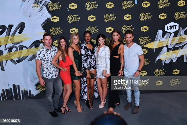 The Cast of Music City arrives at the 2018 CMT Music Awards at Bridgestone Arena on June 6 2018 in Nashville Tennessee