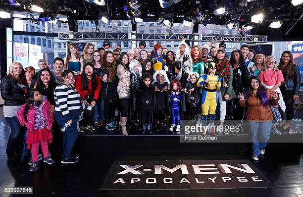 AMERICA The cast of of 'XMen Apocalypse' are on 'Good Morning America' 5/24/16 airing on the ABC Television Network FANS