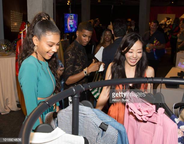 The cast of 'On My Block' attend Backstage Creations Celebrity Retreat At Teen Choice 2018 Day 2 at The Forum on August 12 2018 in Inglewood...