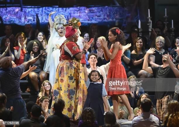 The cast of Once on This Island performs onstage during the 72nd Annual Tony Awards at Radio City Music Hall on June 10 2018 in New York City