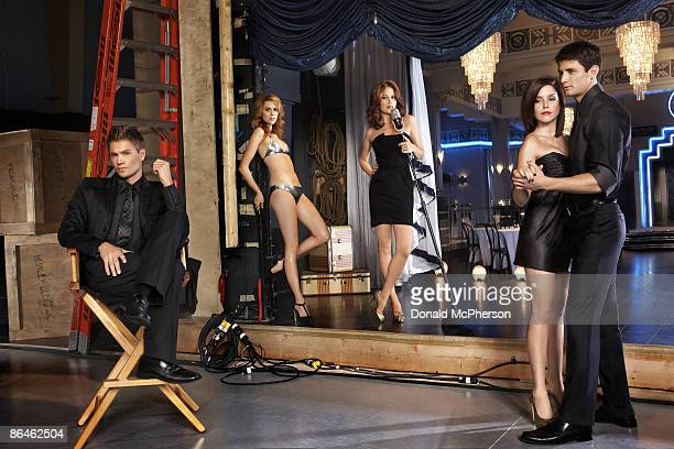 The cast of One Tree Hill Chad Michael Murray Hilarie Burton Bethany Joy Galeotti Sophia Bush and James Lafferty are photographed for Entertainment...