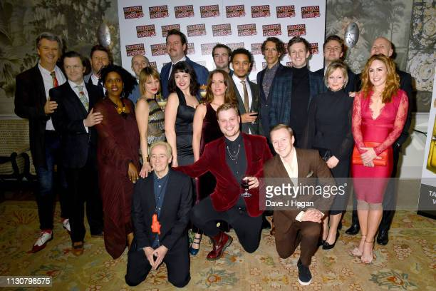 The Cast of Only Fools and Horses pose for a group photograph during the after party following the opening night of Only Fools and Horses The Musical...
