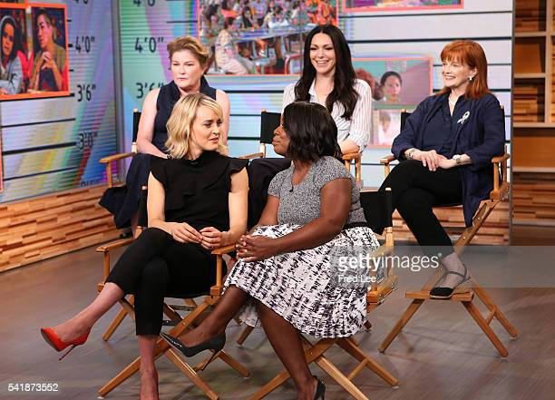 AMERICA The cast of orange is the New Black are guests on Good Morning America 6/20/16 airing on the Walt Disney Television via Getty Images...