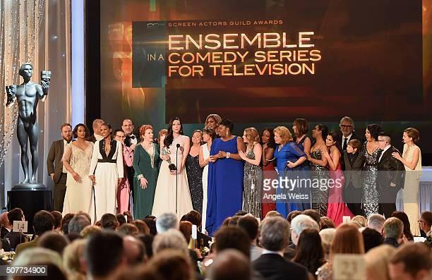 The cast of 'Orange Is the New Black' including actors Vicky Jeudy Lori Petty Uzo Aduba Kate Mulgrew Annie Golden Laura Prepon Dale Soules Laverne...