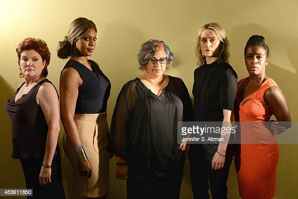 The cast of Orange is the New Black Kate Mulgrew Laverne Cox creator Jenji Kohan Taylor Schilling and Uzo Aduba are photographed for Los Angeles...