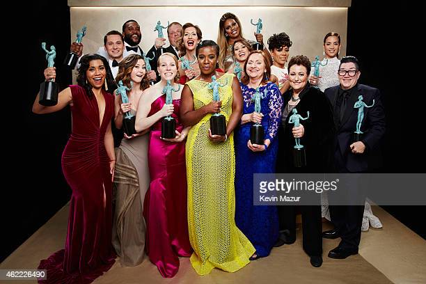 The cast of 'Orange is the New Black' poses during TNT's 21st Annual Screen Actors Guild Awards at The Shrine Auditorium on January 25 2015 in Los...