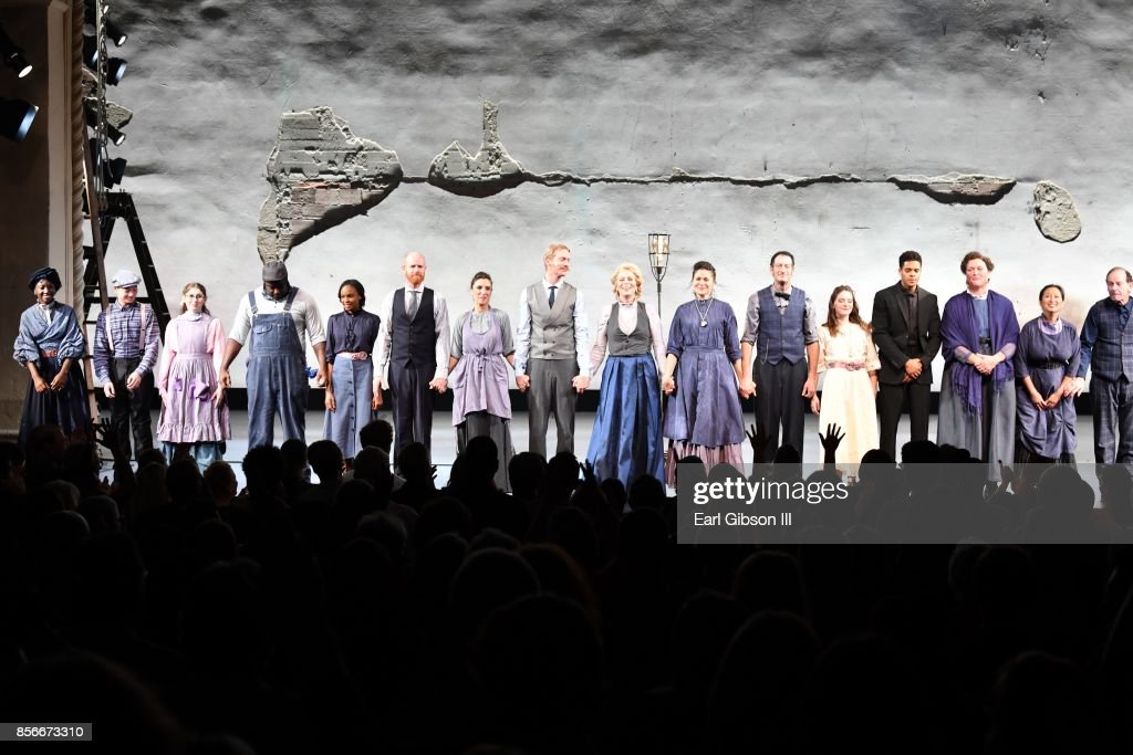 The cast of 'Our Town' take their bow at the Pasadena Playhouse And Deaf West Theatre's 'Our Town' Opening Night at Pasadena Playhouse on October 1, 2017 in Pasadena, California.