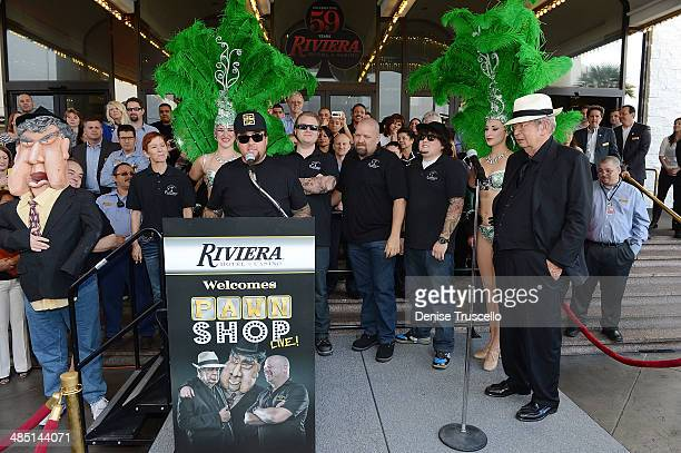 The cast of PAWN SHOP LIVE! Chumlee, Kady Heard, Garret Grant, Troy Tinker, Sidney Kounkle, Gus Langley, Sean Critchfield, Anita Bean, History's Pawn...