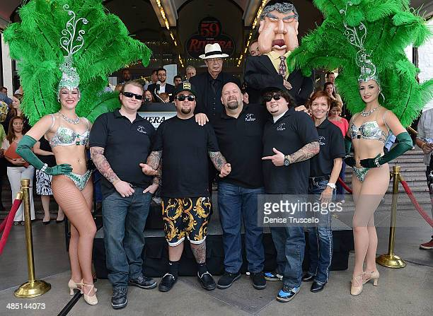 The cast of PAWN SHOP LIVE! Kady Heard, Garret Grant, Chumlee, Troy Tinker, Sidney Kounkle, Gus Langley, Sean Critchfield, Anita Bean, History's Pawn...