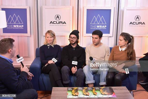 The cast of 'Piercing' attends the Acura Studio at Sundance Film Festival 2018 on January 21 2018 in Park City Utah