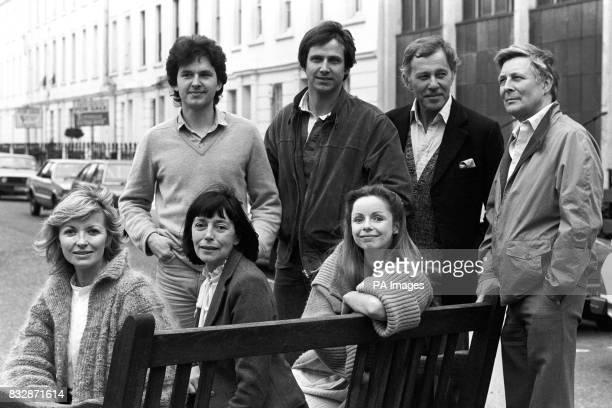 The cast of Pope John Paul II's sacred drama The Jeweller's Shop' gathered in London Dominic Guard Christopher Blake John Carson and Paul Daneman...