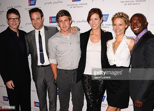 The cast of Private Practice Tim Daly Paul Adelstein Chris Lowell Kate Walsh KaDee Strickland and Taye Diggs attend ABC's Private Practice and...
