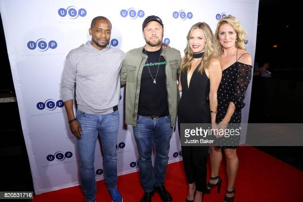 The cast of Psych attends Universal Cable Productions Annual ComicCon Celebration at Omnia Nightclub on July 21 2017 in San Diego California