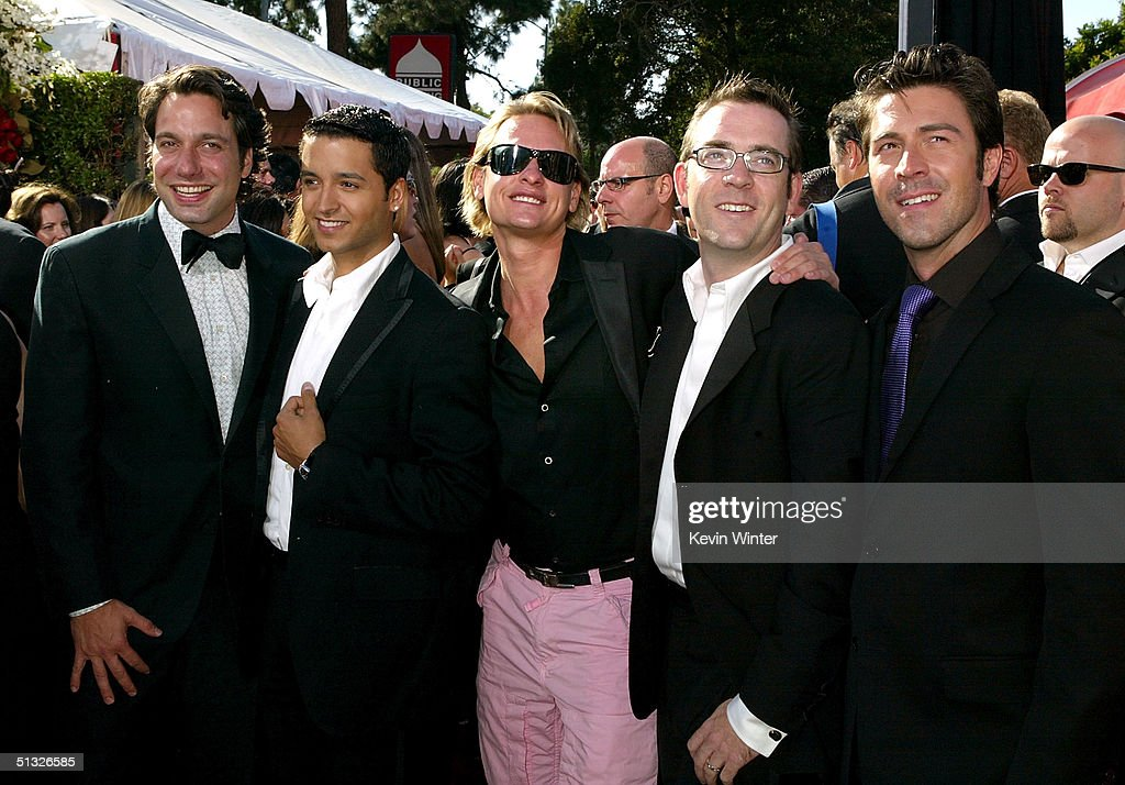 The Cast of Queer Eye for the Straight Guy attend the 56th Annual Primetime Emmy Awards at the Shrine Auditorium September 19, 2004 in Los Angeles, California.