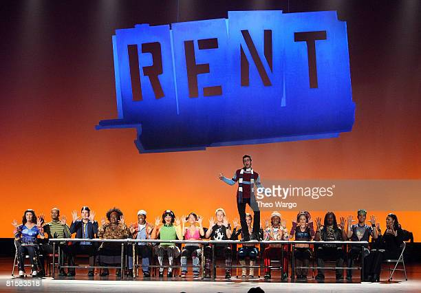 The cast of Rent performs on stage during the 62nd Annual Tony Awards at Radio City Music Hall on June 15 2008 in New York City