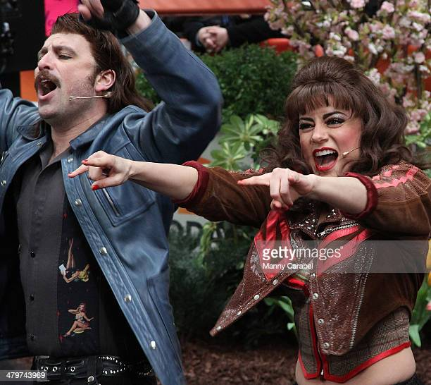 The Cast of Rock Of Ages performs Live on NBC's Today at Rockefeller Plaza on March 20 2014 in New York City