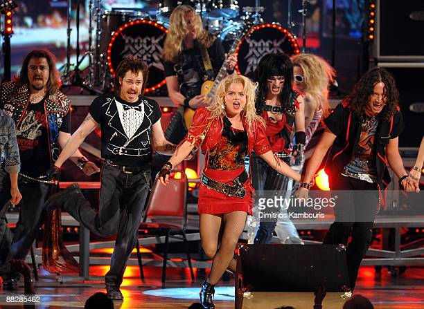 The cast of Rock of Ages performs on stage during the 63rd Annual Tony Awards at Radio City Music Hall on June 7 2009 in New York City