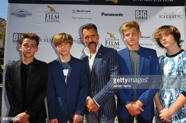 The Cast of 'Rockaway' Colin Critchley Tanner Flood Wass Stevens Harrison Wittmeyer and Keidrich Sellati attend the 2017 Catalina Film Festival on...