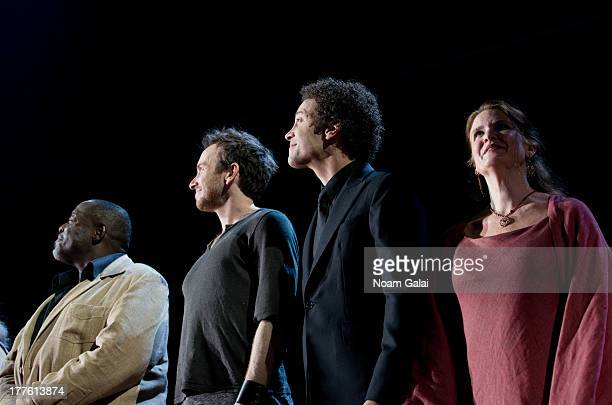 The cast of 'Romeo And Juliet' perform at the Richard Rodgers Theatre on August 24 2013 in New York City