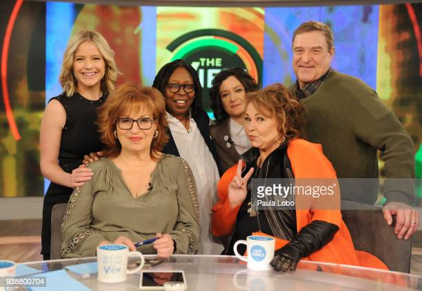 "The cast of Roseanne appear on Walt Disney Television via Getty Images's ""The View"" today, Tuesday, 3/27/18. ""The View"" airs Monday-Friday on the..."