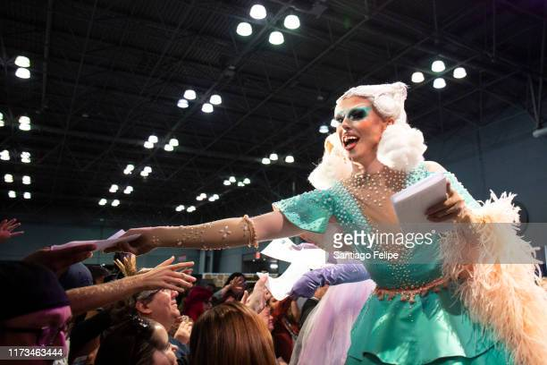 The cast of 'RuPaul's Drag Race UK' announce Dragcon UK 2020 onstage duringRuPaul's DragCon 2019 at The Jacob K Javits Convention Center on September...