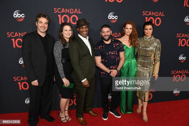 SCANDAL The cast of Scandal attended a 100th episode celebration in West Hollywood CA The 100th episode entitled The Decision airs THURSDAY APRIL 13...