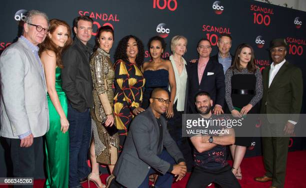The cast of Scandal Jeff Perry Darby Stanchfield Scott Foley Berllamy Young Cornelius Smith Jr Shondra Rhimes Kerry Washington Betsy Beers Guillermo...