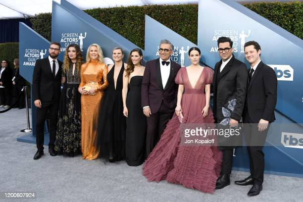 The cast of Schitt's Creek attends the 26th Annual Screen ActorsGuild Awards at The Shrine Auditorium on January 19 2020 in Los Angeles California