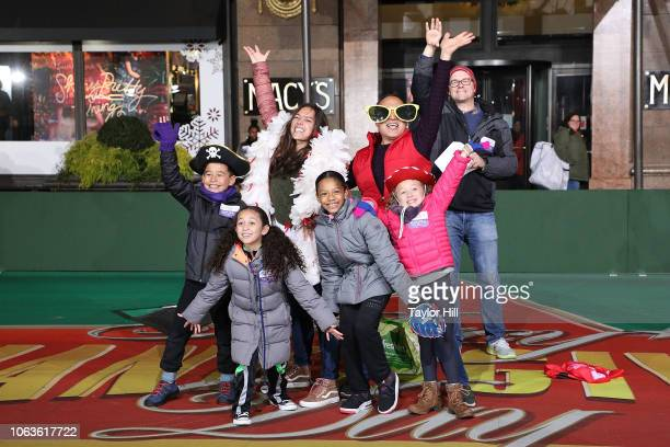 The cast of Sesame Street performs during Day 1 of 2018 Macy's Thanksgiving Day Parade Rehearsals at Macy's Herald Square on November 19, 2018 in New...