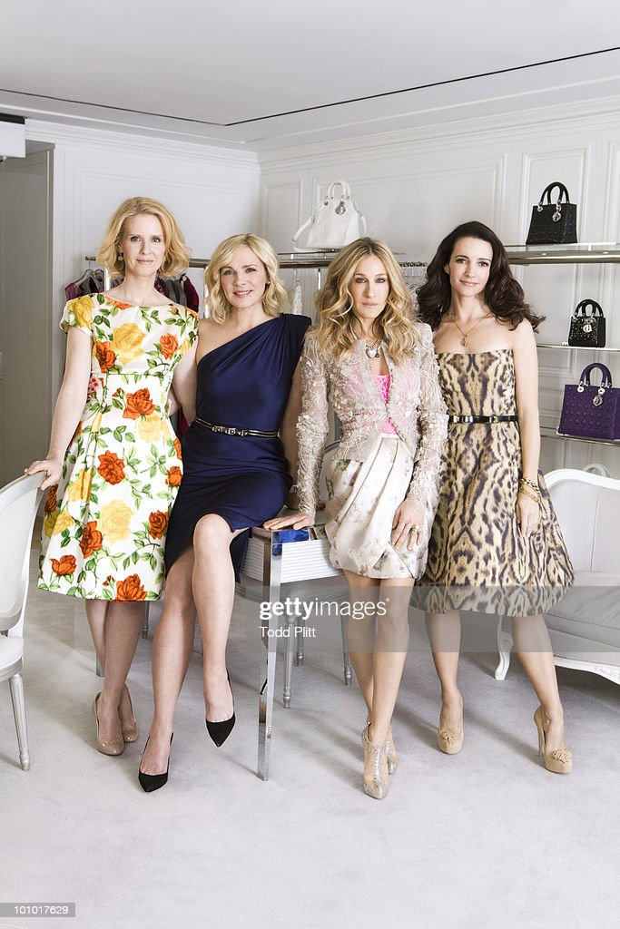 The cast of Sex and the City (L to R) Cynthia Nixon, Kim Cattrall, Sarah Jessica Parker, and Kristin Davis pose for a portrait session for the USA Today in New York, NY on May 27, 2010. (Photo by Todd Plitt/ Contour by Getty Images).