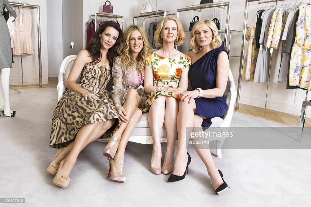 The cast of Sex and the City (L to R) Kristin Davis, Sarah Jessica Parker, Cynthia Nixon and Kim Cattrall pose for a portrait session for the USA Today in New York, NY on May 27, 2010. (Photo by Todd Plitt/ Contour by Getty Images).