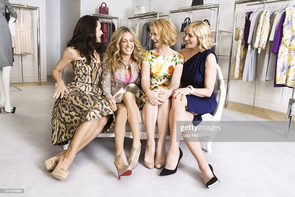The cast of Sex and the City (L to R) Kristin Davis, Sarah Jessica Parker, Cynthia Nixon and Kim Cattrall pose for a portrait session for the USA Today in New York, NY on May 27, 2010. PUBLISHED IMAGE. (Photo by Todd Plitt/ Contour by Getty Images).