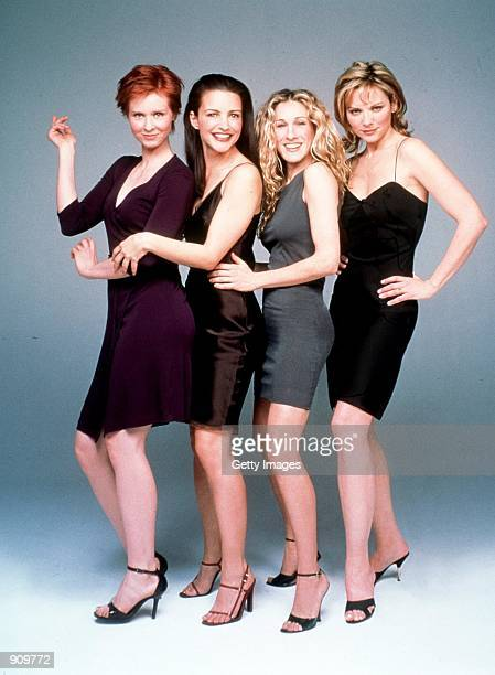 The cast of Sex And The City Season 2 Clockwise from top left Cynthia Nixon Kristin Davis Sarah Jessica Parker and Kim Cattrall 1999 Paramount...