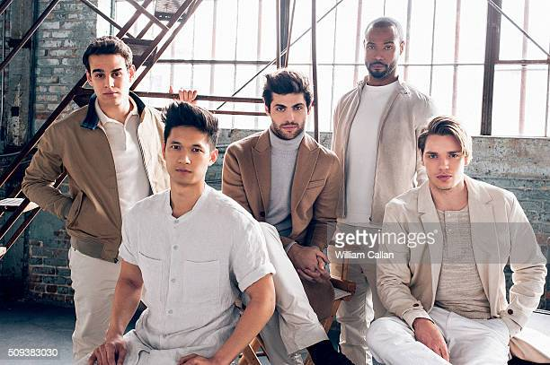 The cast of 'Shadow Hunters' Isaiah Mustafa Harry Shum Jr Dominic Sherwood Alberto Rosende and Matthew Daddario are photographed for Bello on January...